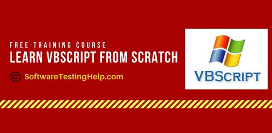 We have published a complete FREE VBScript Tutorial series for you which will help you to learn and master VBScript scripting language just in few days.