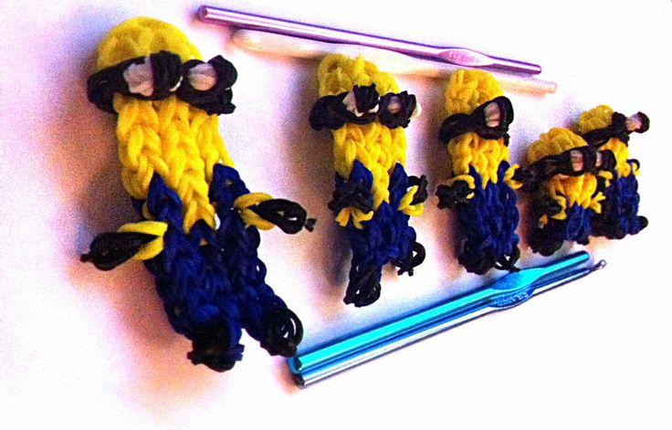 Despicable Me Minions c: Made with at least 4 Crochet Hooks