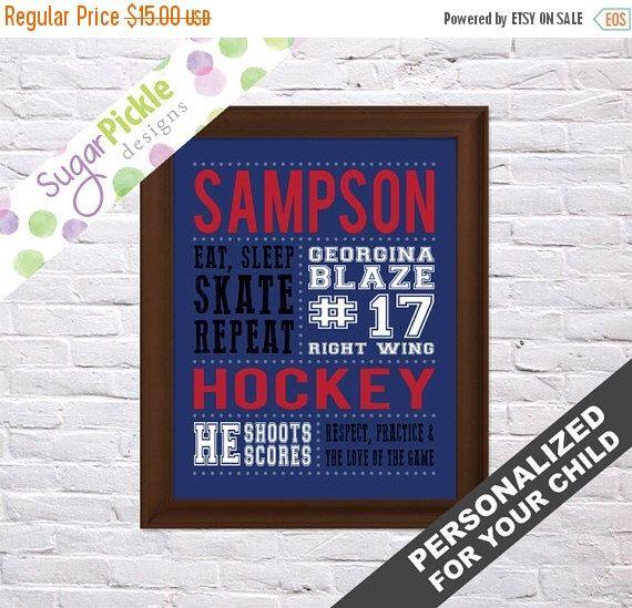 Hockey Print, Hockey Gift, Gift for Hockey Player, Team Gift, Personalized Hockey Art, Hockey Stats Art, Hockey Wall Art, hockey printables by SugarPickleDesigns on Etsy https://www.etsy.com/listing/270767661/hockey-print-hockey-gift-gift-for-hockey