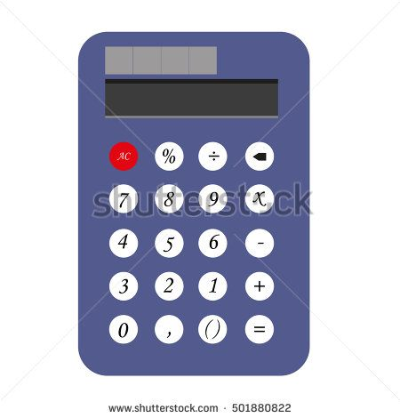 vector illustration of calculator icon