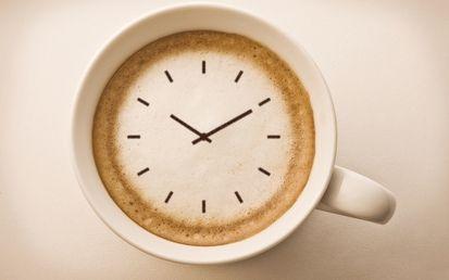 часы, кружка, капучино, кофе, стрелка, разное