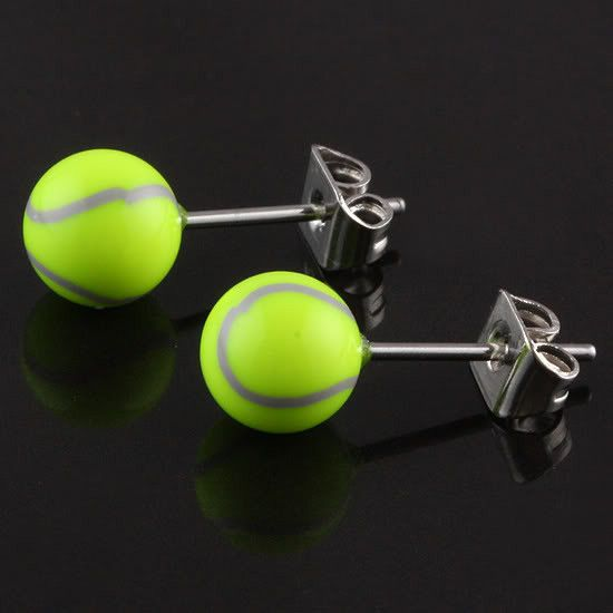 Tennis Ball Stainless Steel Earrings                                                                                                                                                                                 More