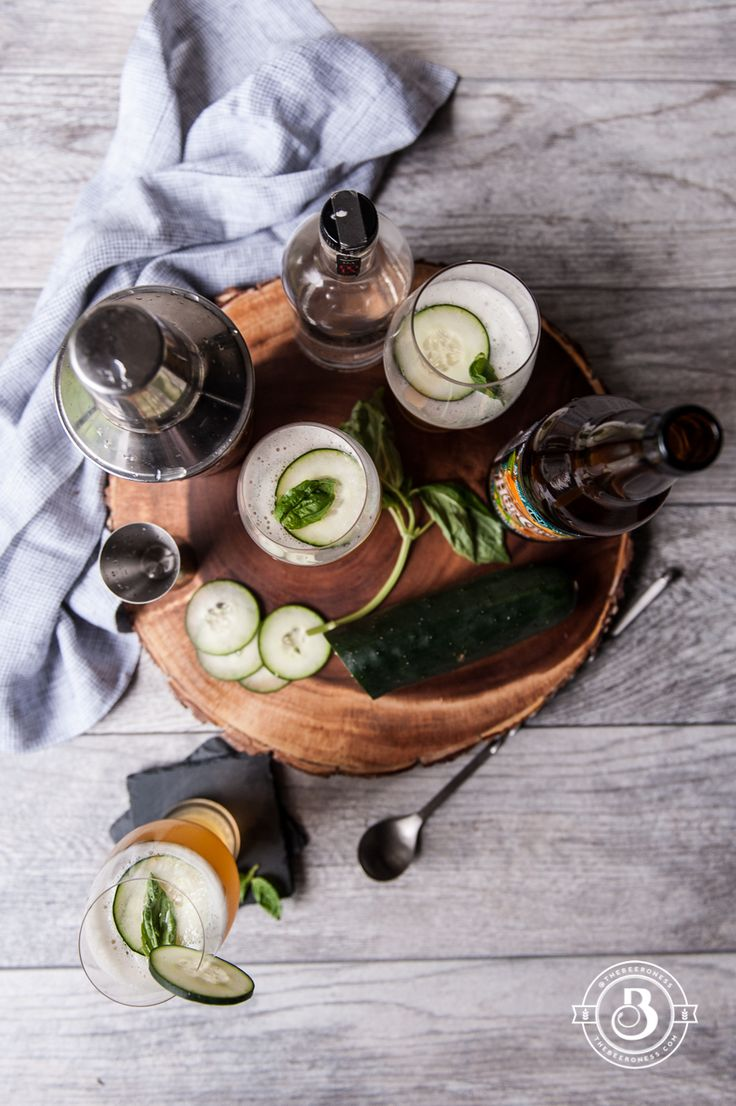 Beer Cocktail Recipe: Cucumber Basil IPA Cooler