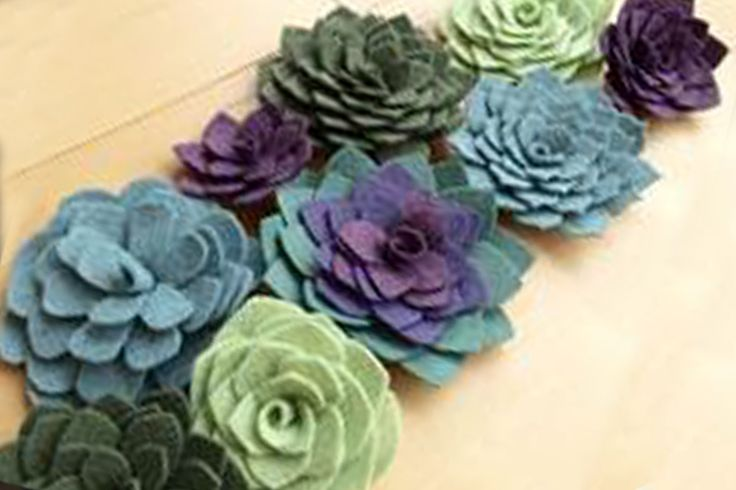 DIY Felt Succulent Napkin Rings >> Steps This Way