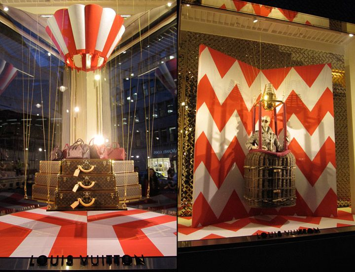Louis Vuitton windows at Bond Street by camouflage, London