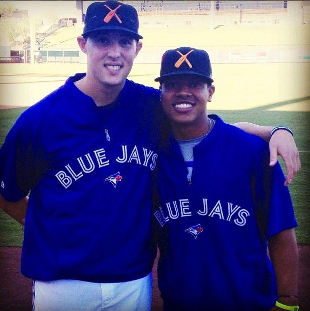 Toronto Blue Jays pitchers(and buddies) Marcus Stroman and Aaron Sanchez.