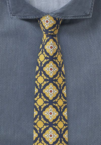 mexico tiles in golden yellow and navy bows n ties com yellow