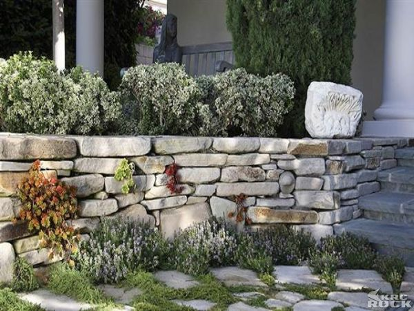 how to build a dry stack stone wall