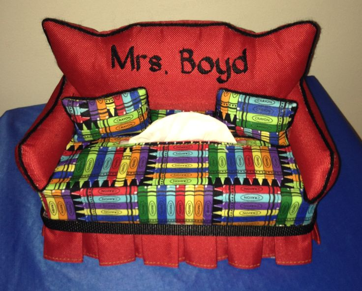 Personalize Tissue Box Couch Great for the Classroom