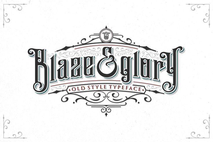 Blaze & Glory Typeface + Extras by Zerowork on @creativemarket