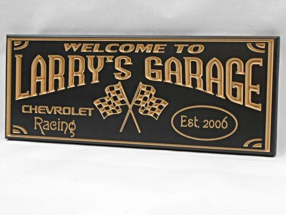 Personalized Garage Signs : Best images about gifts for the man in your life on