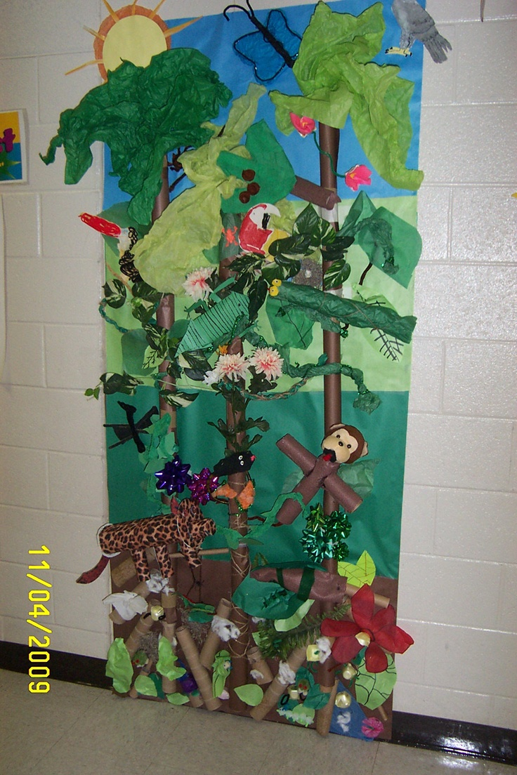 Classroom Rainforest Ideas : Rainforest murral classroom themes pinterest rainforests