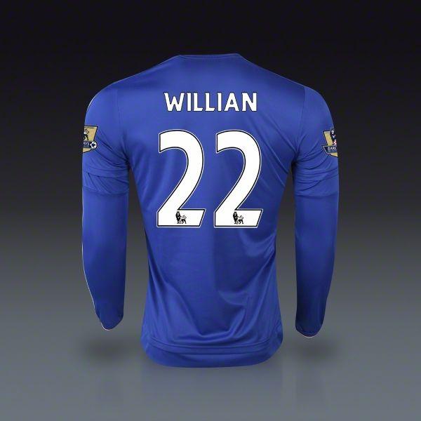 adidas Willian Chelsea Home Long Sleeve Jersey 15/16 | SOCCER.COM