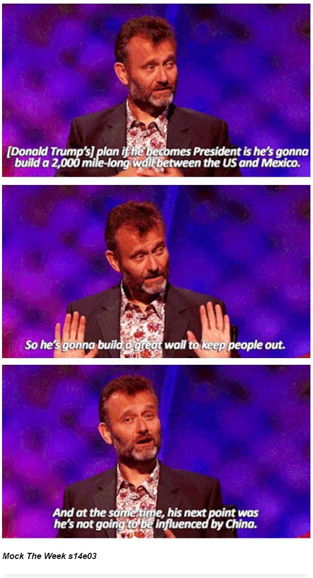 Donald Trump's plan if he becomes President | Hugh Dennis | Mock the Week