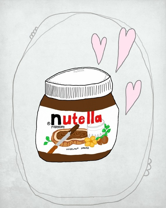 Illustration. Nutella love