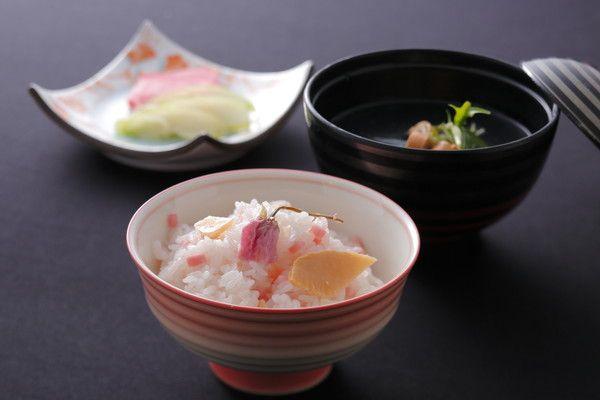 【美湖膳】<お食事>お料理一例*桜御飯 お吸い物