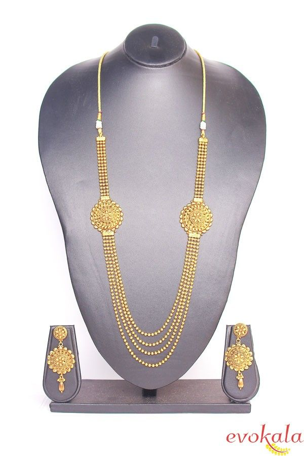 Traditional Indian Gold Necklace Set
