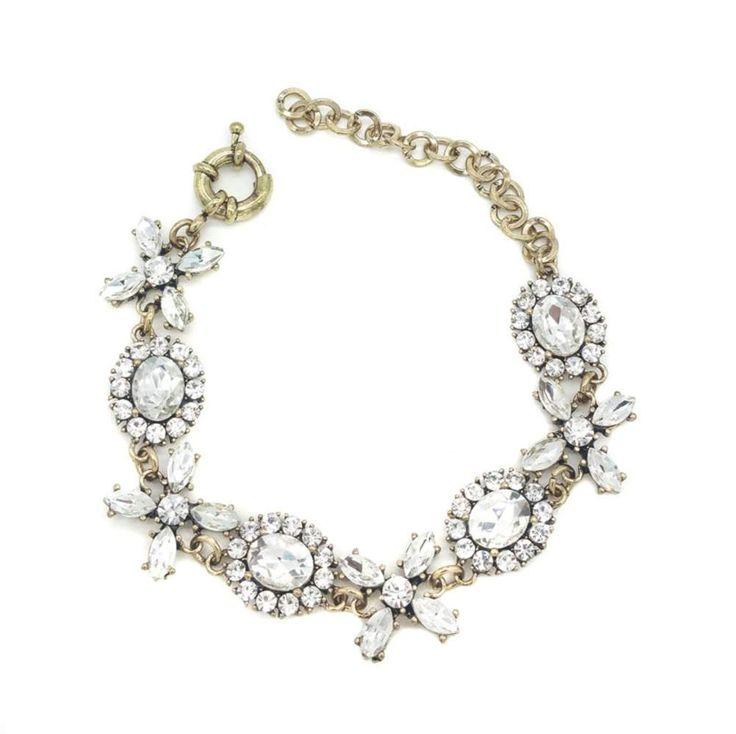 Armband bruid - Bruidsarmband - armband goud - Gouden armband - Bracelet gold Swarovski armband - Vintage armband