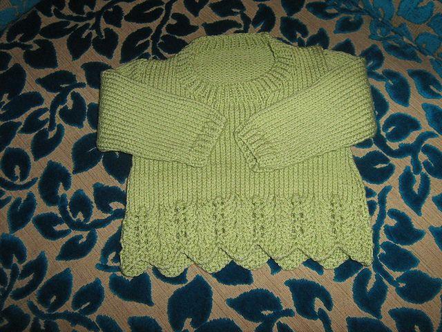 Ravelry: Virtuallintu's Lace Edge Sweater