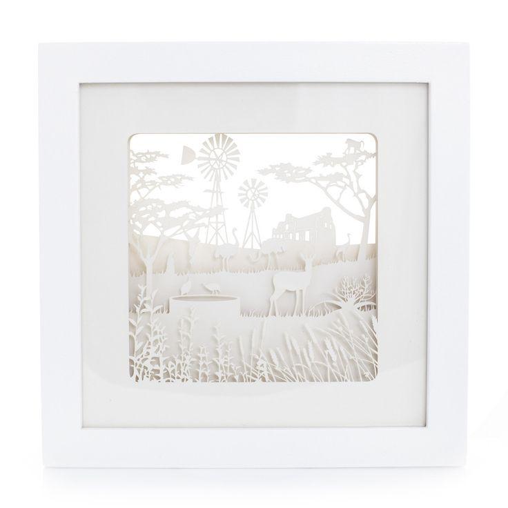 Framed Paper Sculpture: Karoo