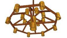 3D Model of Lampu Gantung Bambu