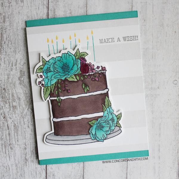 "5 piece die set. Cake die measures approximately 3 1/2"" x 3"". Cuts images from the Happy Day stamp set. The dies cut out the cake, banner and HAPPY DAY. The HAP"