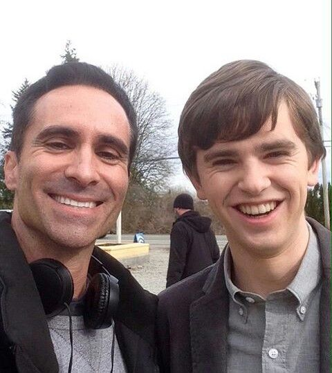 Nestor Carbonell (Romero) and Freddie Highmore (Norman) of Bates Motel