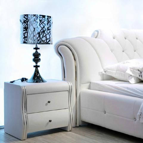 Best Bed High Quality Leather Bed White Leather Bed White 400 x 300
