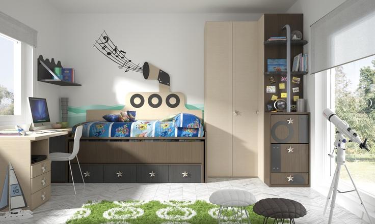 Habitaciones infantiles temáticas dibujos animados Bob5