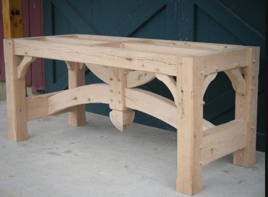 reclaimed wood table frame