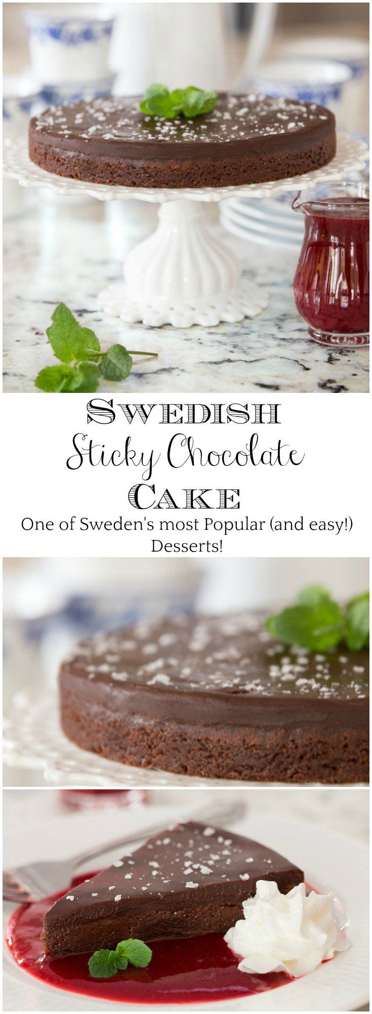 Kladdkaka (aka Swedish Sticky Chocolate Cake) is one of Sweden's most beloved (and easy!) desserts and every chocolate lover's dream come true!   via @cafesucrefarine