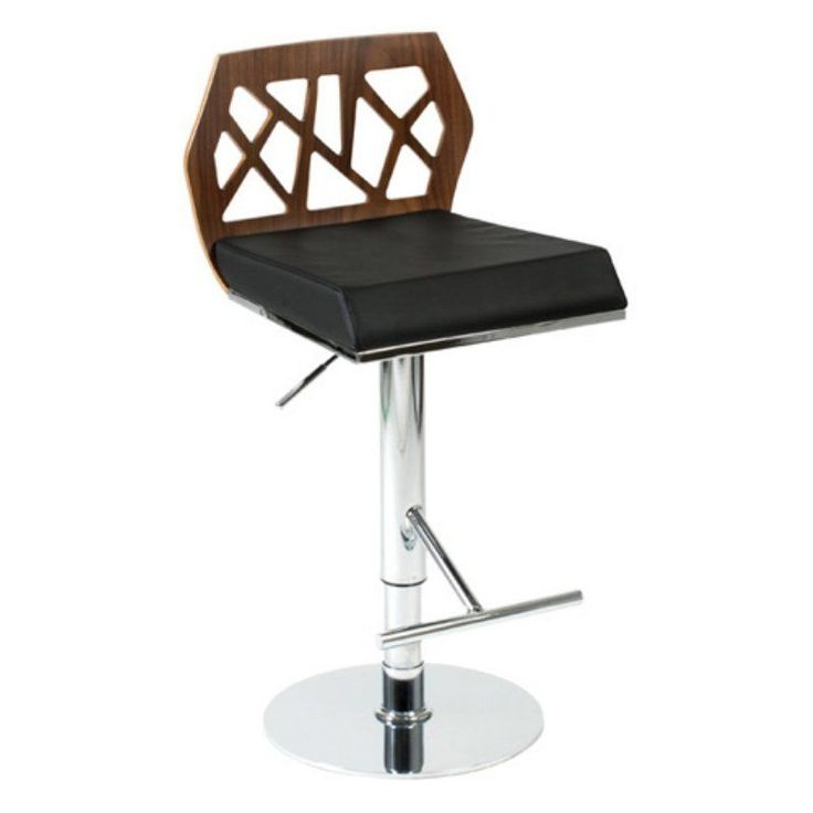 This walnut black and chrome adjustable armless stool is a great addition to a bar or kitchen. Contemporary armless bar or counter height barstool.  sc 1 st  Pinterest & Best 25+ Adjustable bar stools ideas on Pinterest | Bar stool ... islam-shia.org