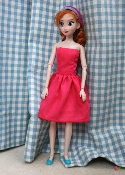 Robe bustier pour poupée mannequin