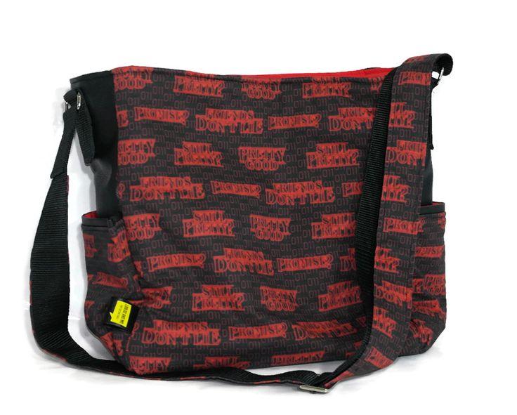 Slouchy Hobo Bag  - Stranger Things Fabric - Pop Culture Bag -