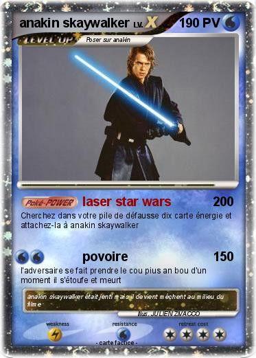 Carte D'anniversaire À Imprimer Star Wars Elegant Pokémon Anakin Skaywalker Laser Star Wars Ma ...