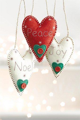 Felt Heart Decorations Set
