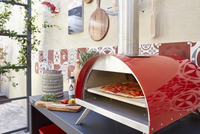 Four A Pizza En Acier Rouge L 41 X L 58 X H 28 Cm Leroy Merlin Avec Images Four A Pizza Pizza Acier