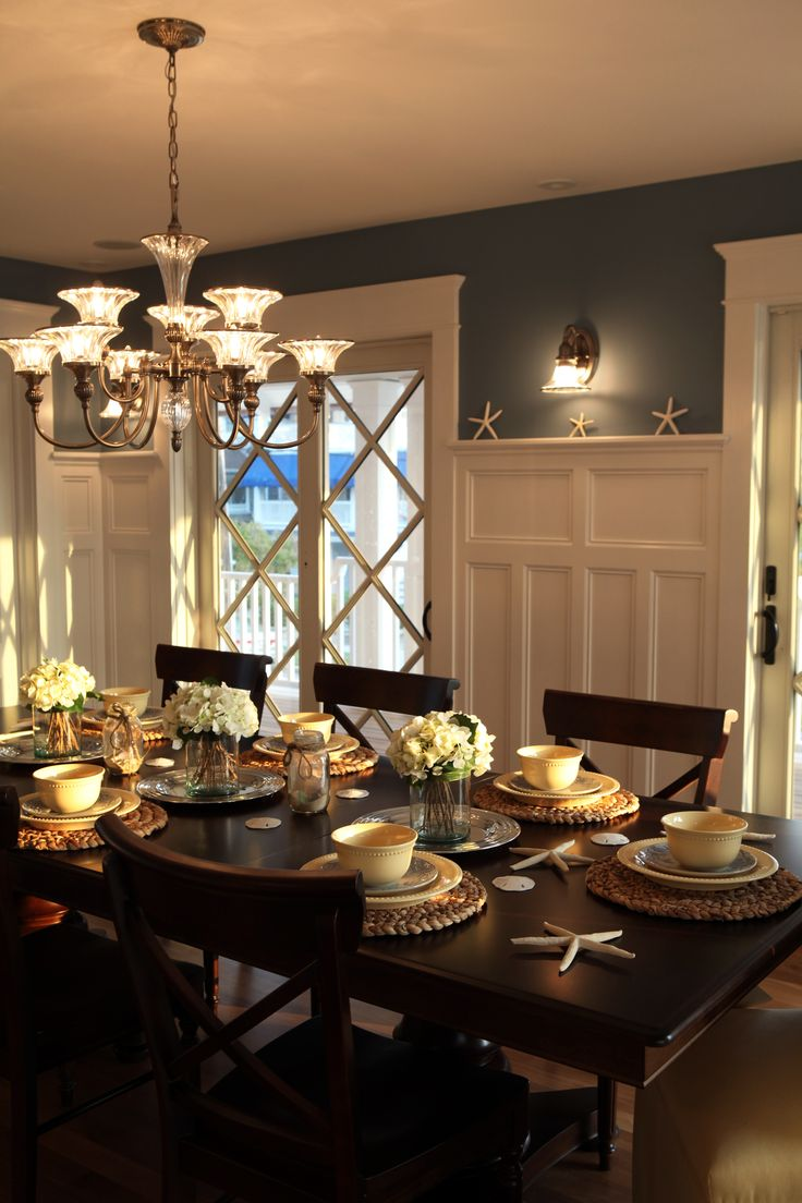 Moulding inspiration, trim, board and batton, Coastal/Cottage dining room...