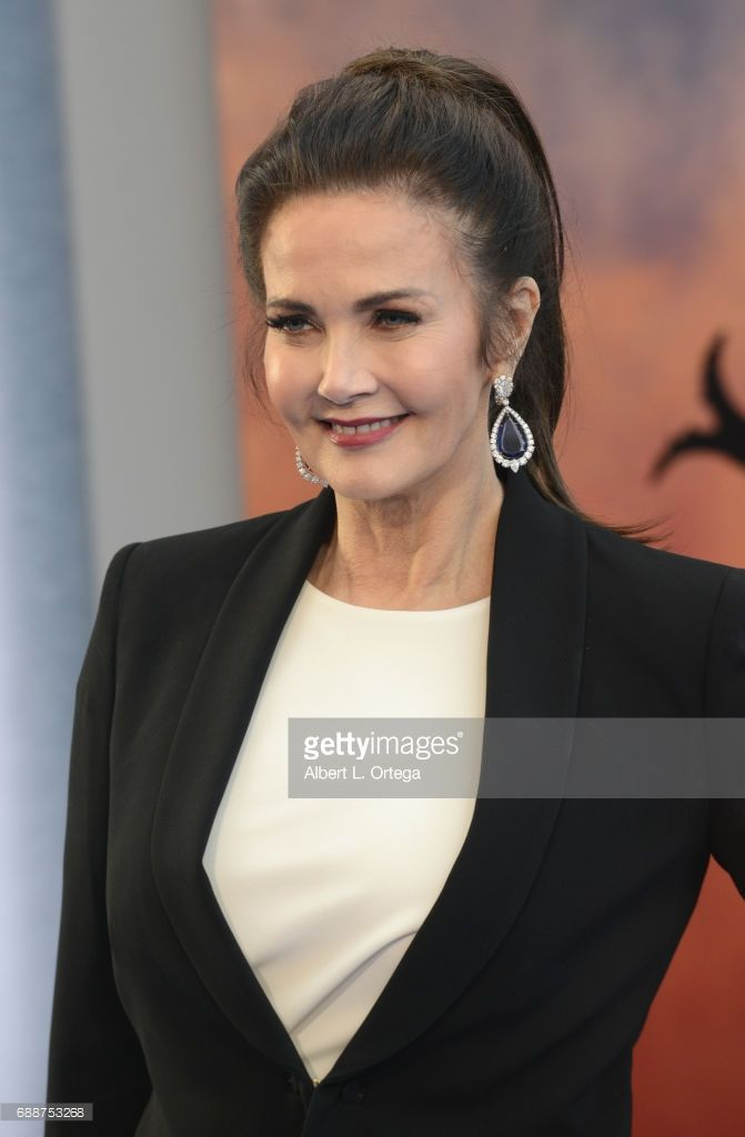 Actress Lynda Carter arrives for the Premiere Of Warner Bros. Pictures' 'Wonder Woman' held at the Pantages Theatre on May 25, 2017 in Hollywood, California.