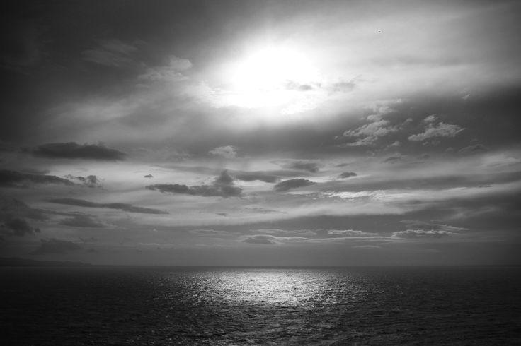 #Aegeansea #Sounion #Greece #sea #blackandwhite #summer #photography