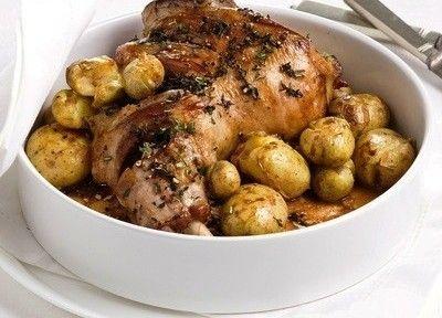 Spalla di agnello con patate arrosto