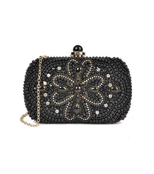 FashionSupreme - Geantă tip plic de culoare neagră Lolita - Accesorii - Genţi - Carla Ferreri - noua colecție de primăvară-vară. Haine şi accesorii de marcă. Haine de designer.