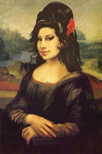 Amy Winehouse   Mona Lisa (c.1503-19) by Leonardo da Vinci