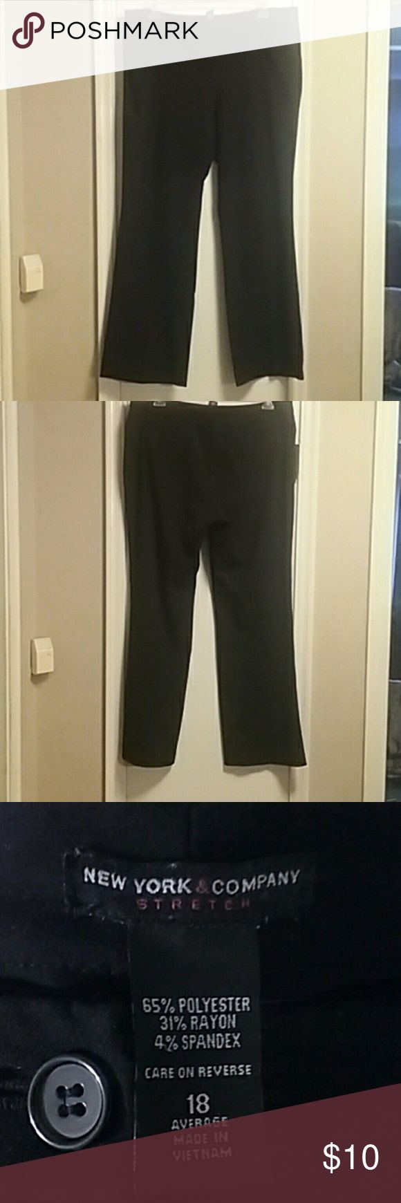 Dress pants Stretch dress slacks in EUC. New York & Company Pants Straight Leg