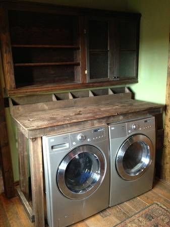 Rustic laundry room