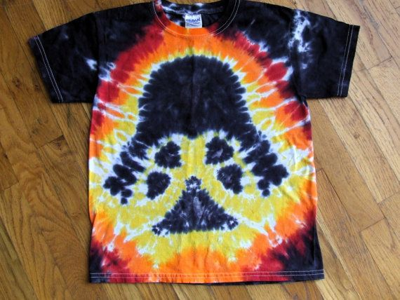 Darth Vader Star Wars Tie Dye T-shirt - Custom Youth Sizes XS, S, M, L - Made-To-Order on Etsy, $25.00