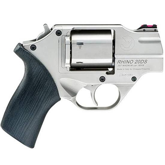 The Chiappa White Rhino revolver with a 2 inch barrel chambered for .357 Magnum