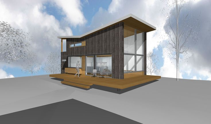 Designer Megan Lea built her beautiful Backyard House micro-home from recycled barnboards.