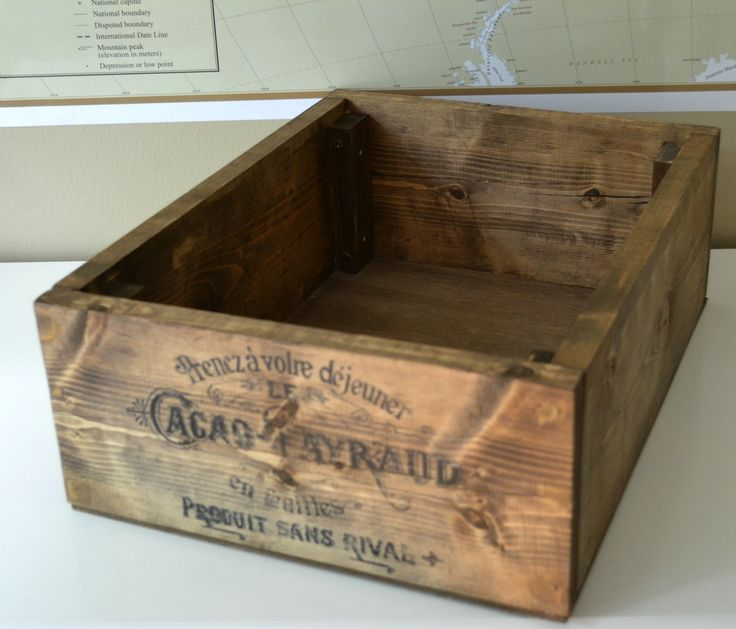 making a vintage crate with transferred image