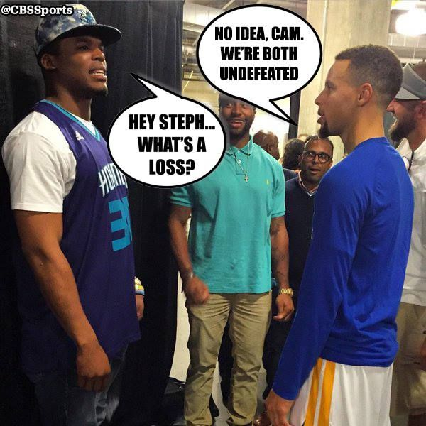 Maybe this is what Stephen Curry and Cam Newton were talking about?